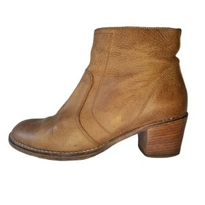 Roots Italian Leather Side Zip Ankle Boots